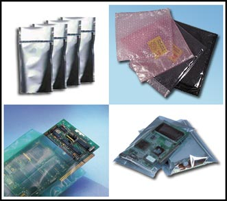 standard and custom bags, pouches, films and other moisture barrier and esd products