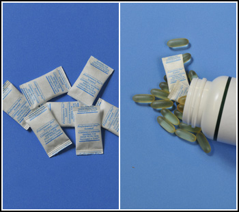 Ethylene absorbing sachets, filters and films